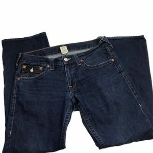 True Religion Section Billy 34 Back Flap Jeans
